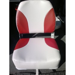 Křeslo sklopné červeno bílé
