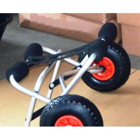 Skládací manipulační nafukovací kolečka - vozík pod kajaky